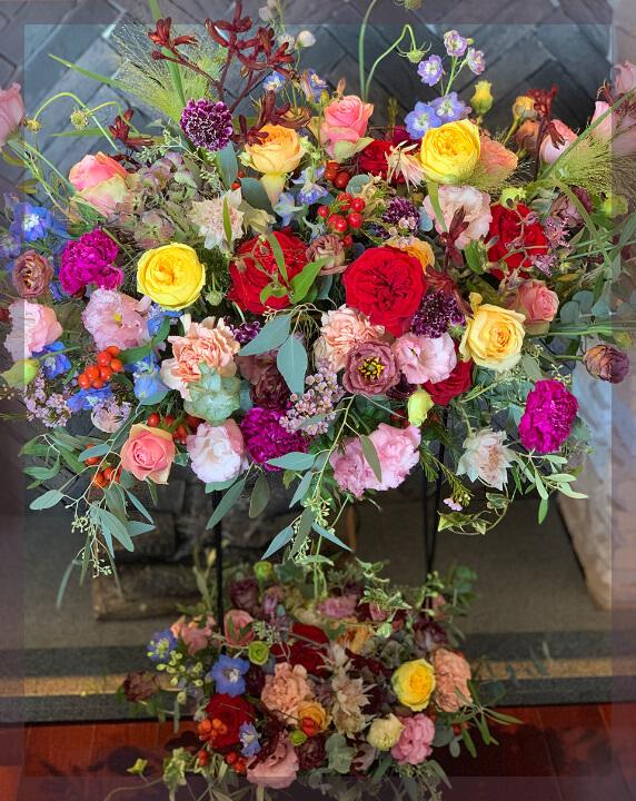 お祝いにはスタンド花を